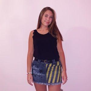 Purdue Hand-Painted Denim Skirt